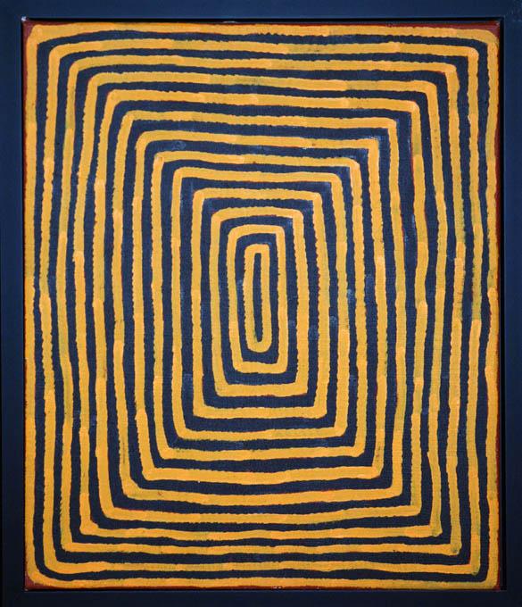 Une oeuvre d'art aborigène en vente à la galerie Arts d'Australie
