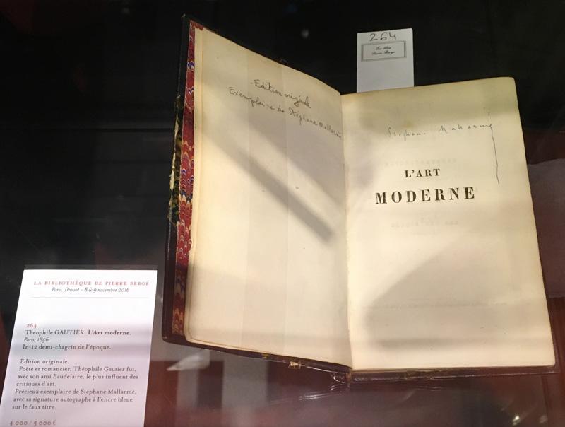 L'Art Moderne de Théophile Gautier exposé à Drouot