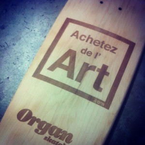 La planche de skate Achetez de l'Art - Organ Skateboards