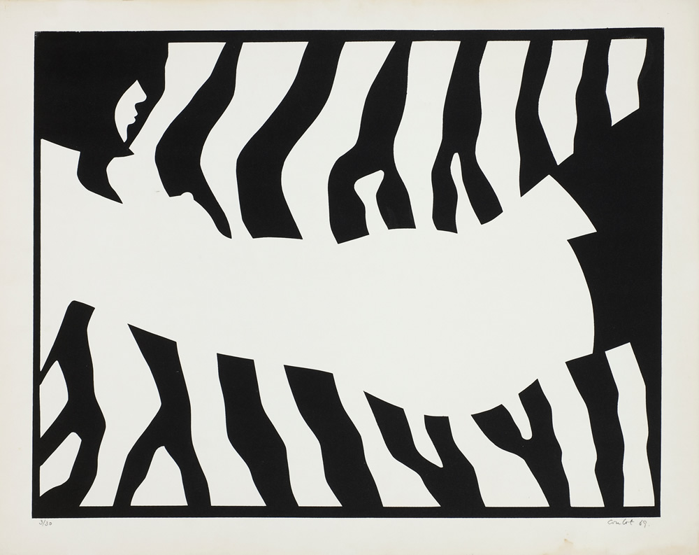Jean Coulot, lithographie, 1969