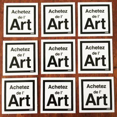 Mini-stickers Achetez de l'Art