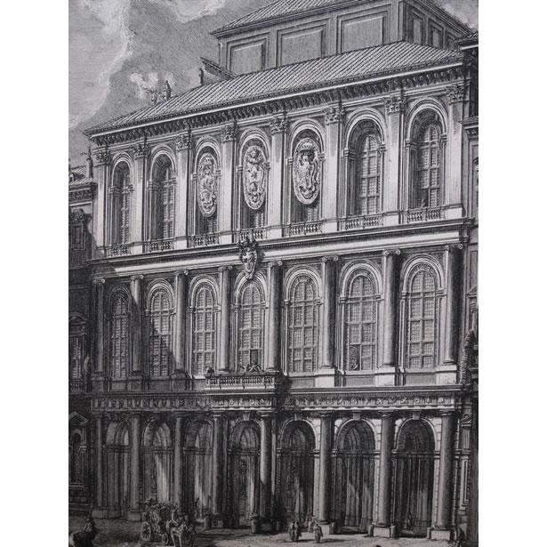 Détails de la façade du palais Barberini par Piranèse