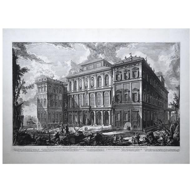 Le palais Barberini à Rome, par Piranèse