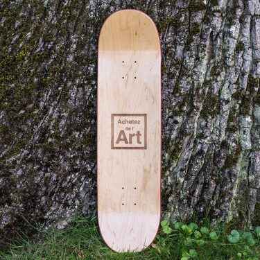Recto de la planche de skate Achetez de l'Art by Lemon