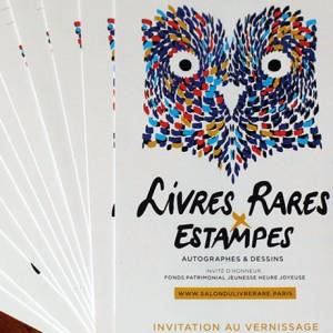 Invitations gratuites pour le salon du livre rare et de l 39 estampe - Invitation salon du livre ...