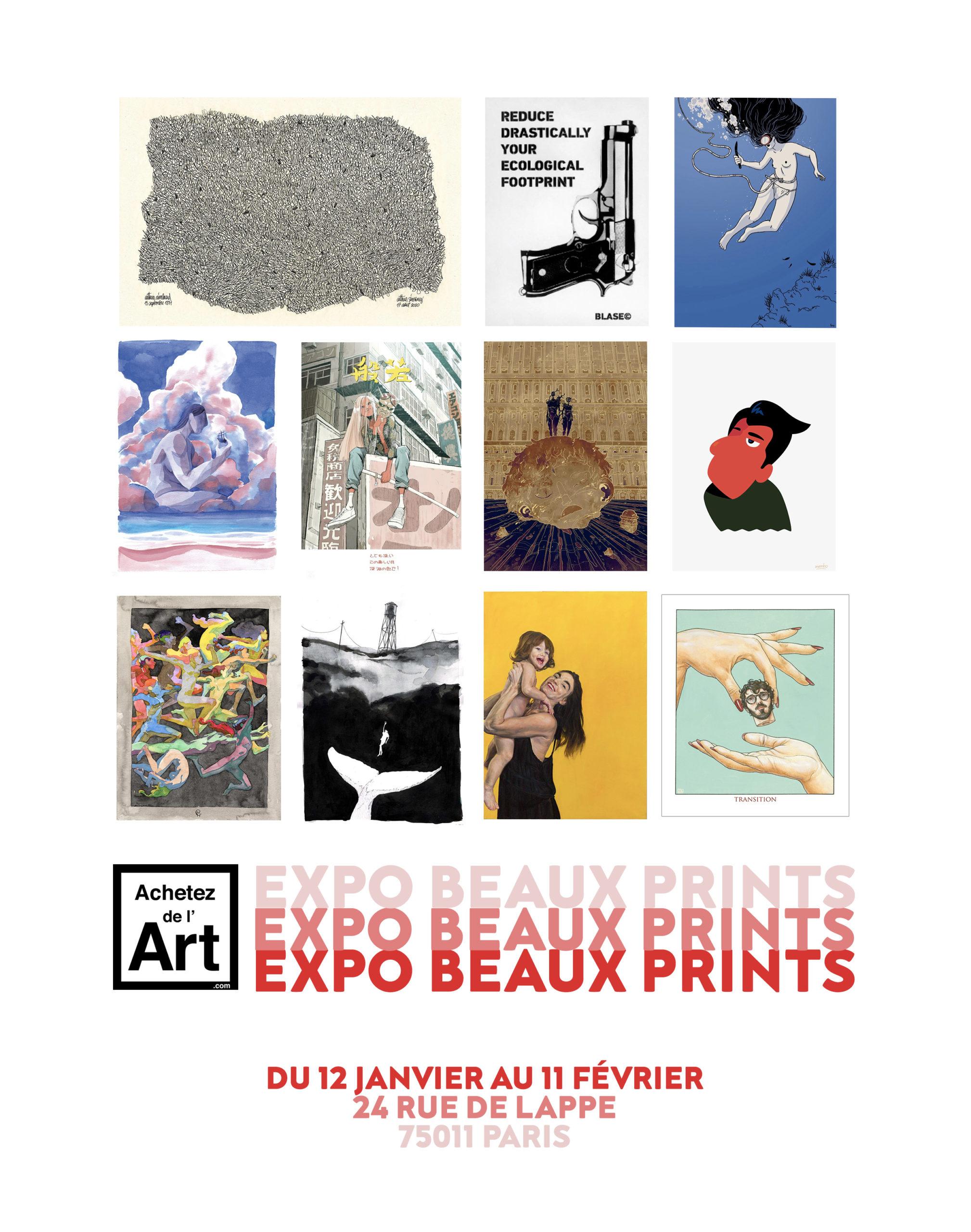 Expo Beaux Prints du 12 janvier au 11 février chez Achetez de l'Art