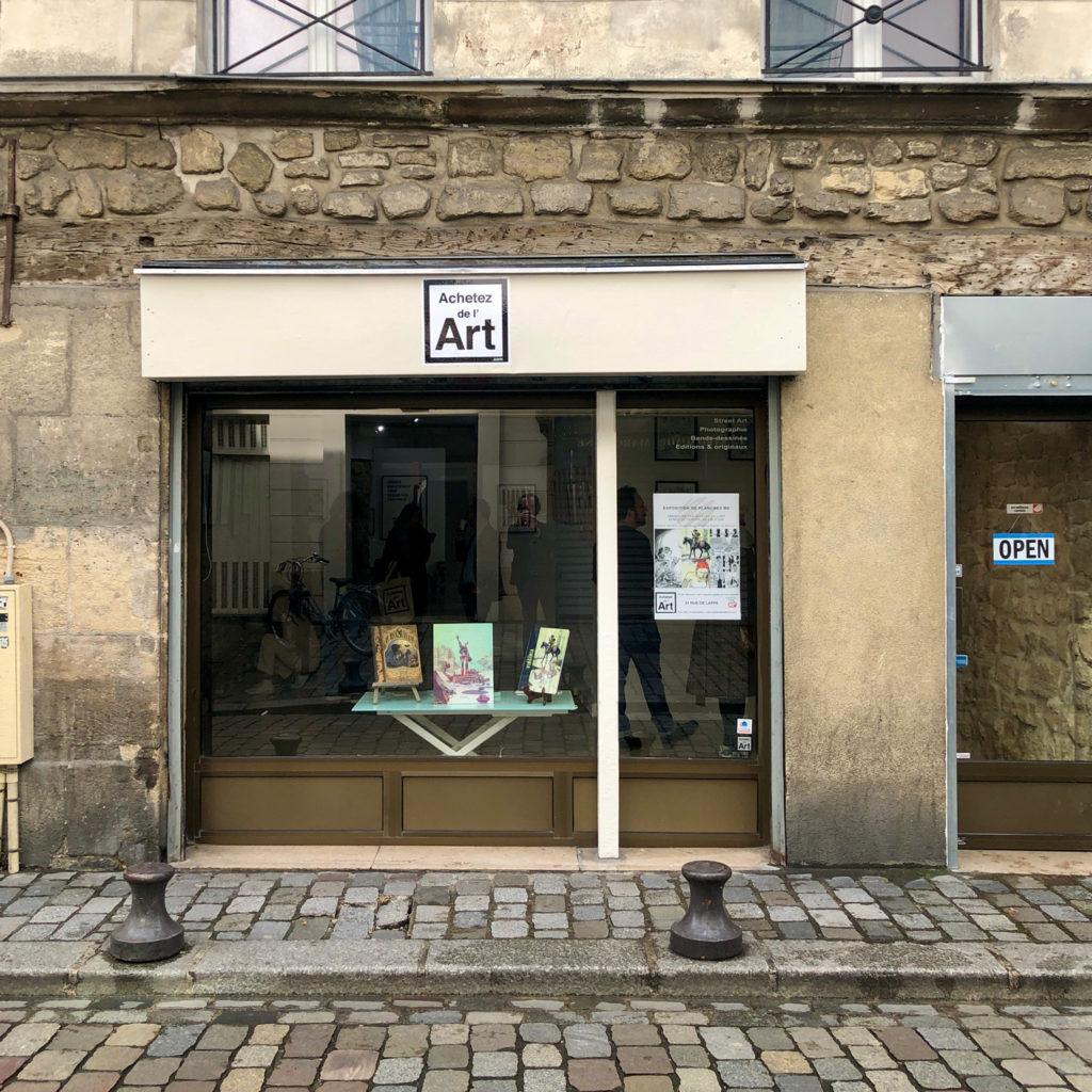 La galerie Achetez de l'Art au 24 rue de Lappe à Paris 11e