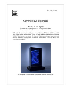 Achetez de l'Art CP exposition NFTs