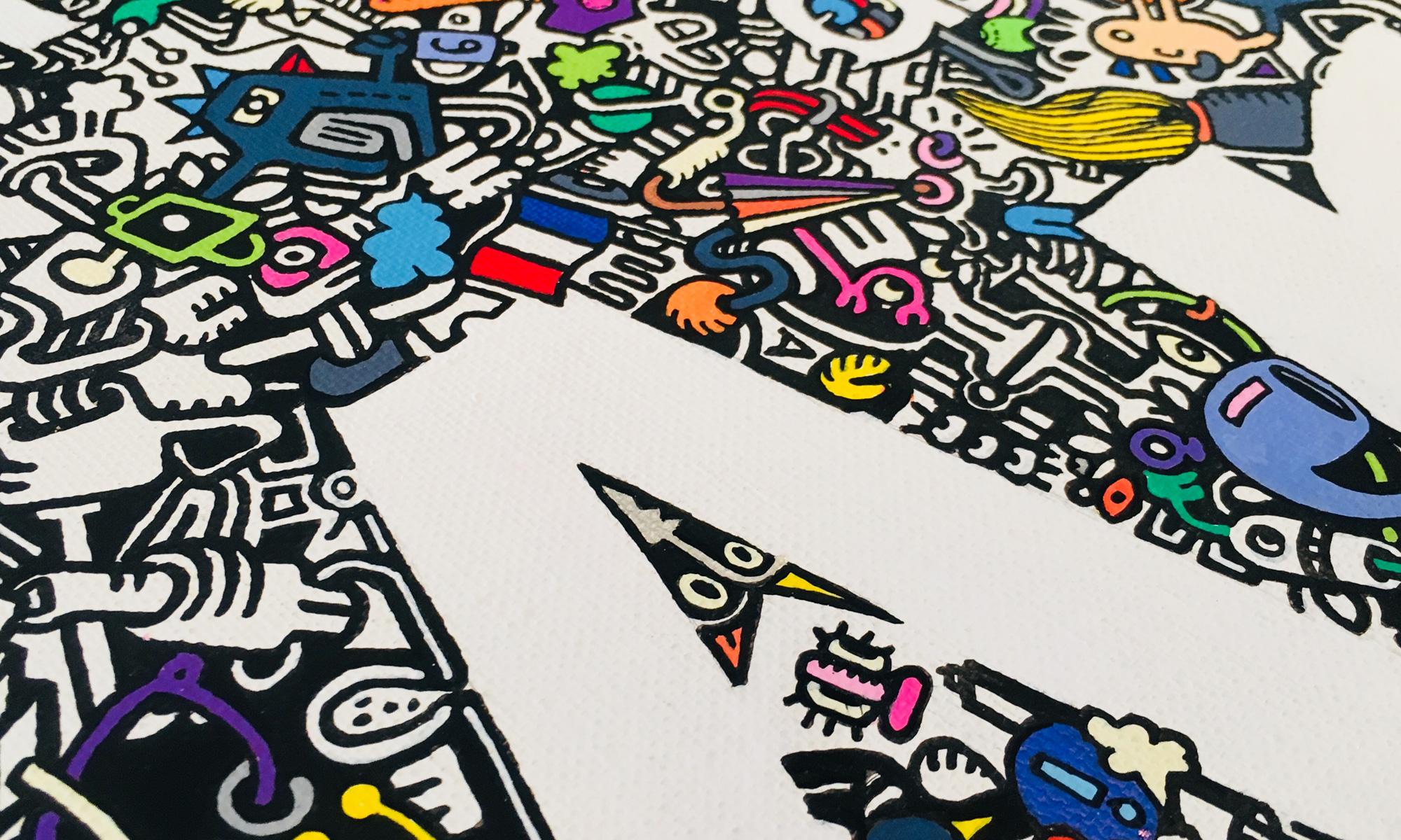 Achetez de l'Art vu par PMH doodle (détail)