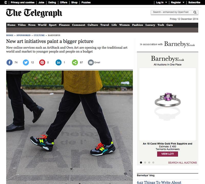 #achetezdelart dans le Telegraph