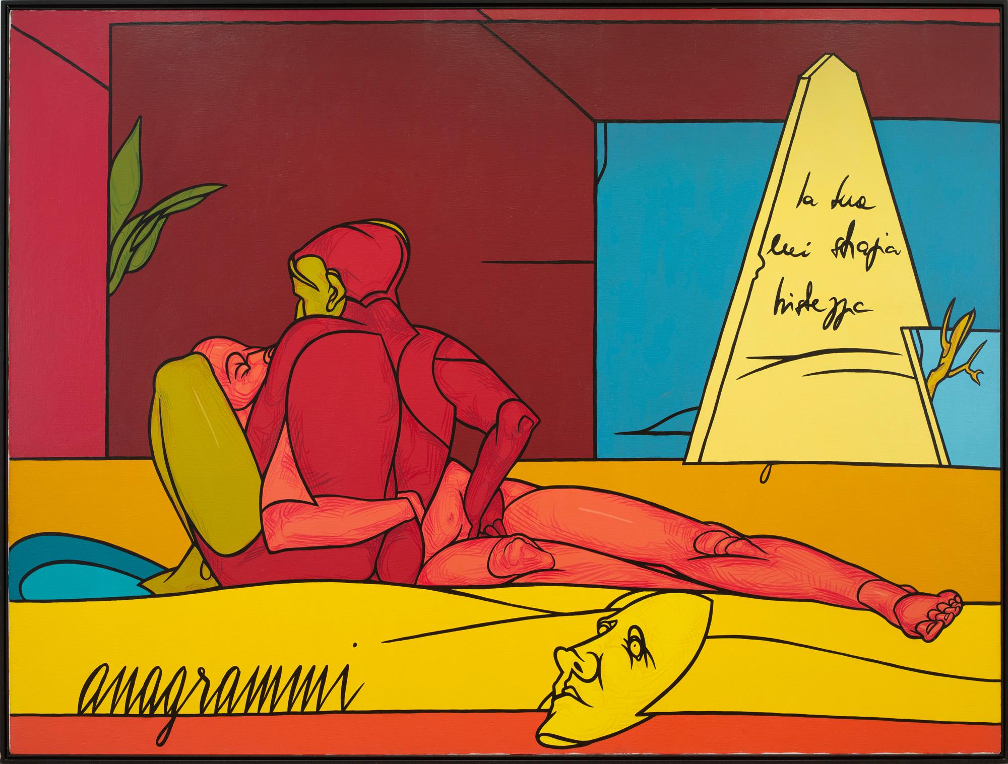 Valerio Adami à la galerie Templon : Anagrammi (1987)