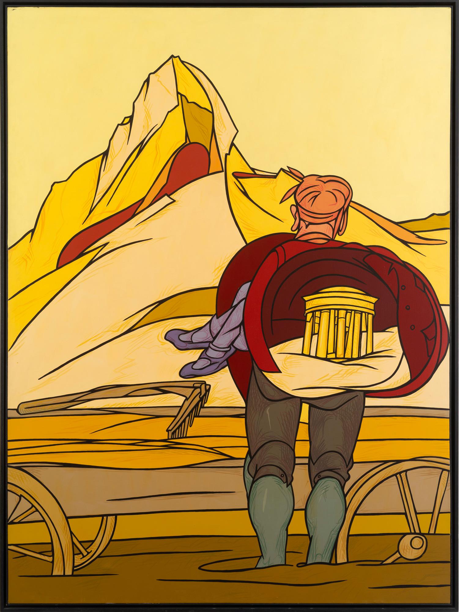 Valerio Adami à la galerie Templon : L'Ascension, 1984