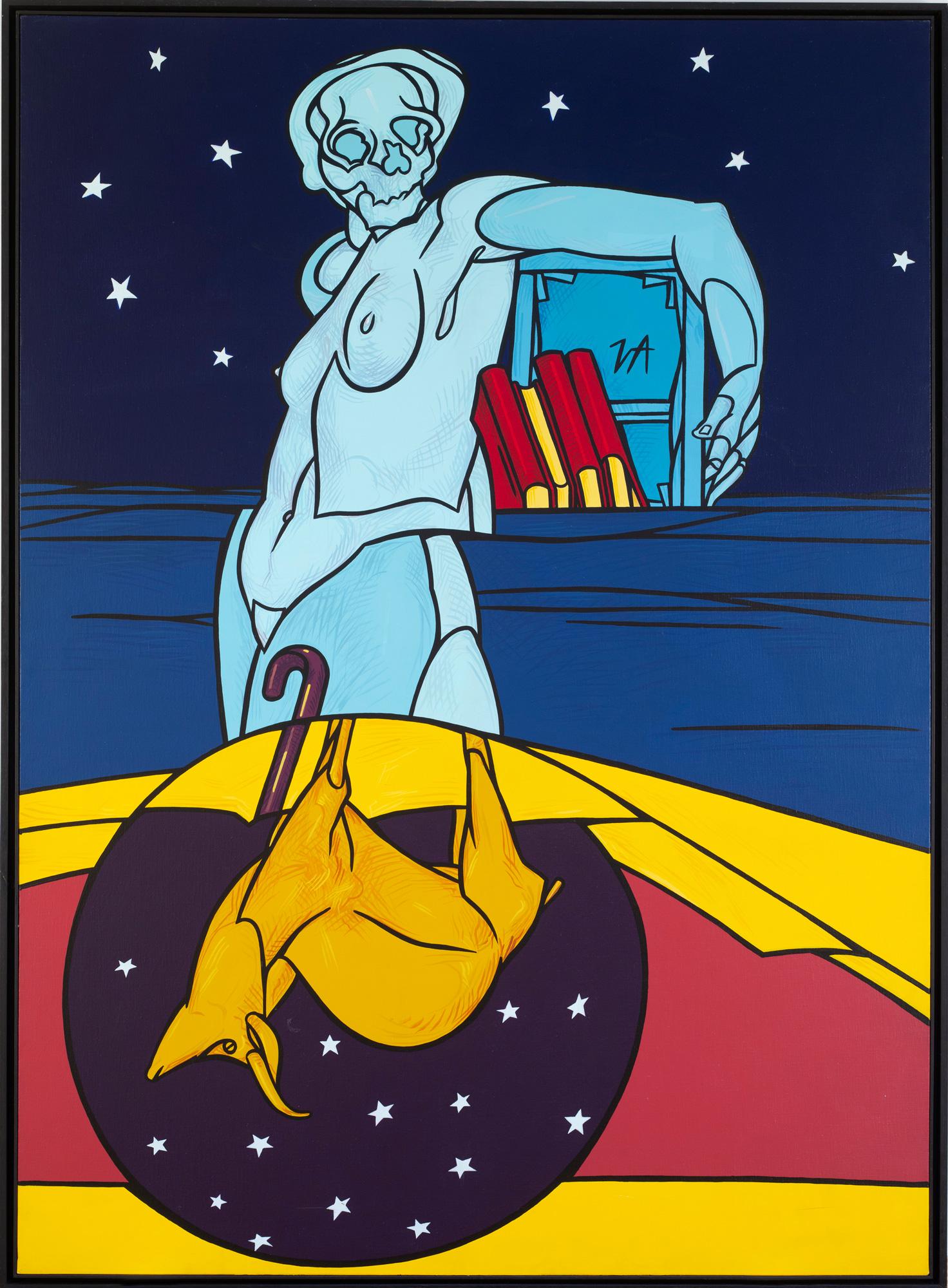 Valerio Adami à la galerie Templon : La Notte dello Stambecco (1988)
