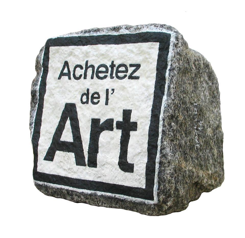 Acheter de l'art contemporain à Paris, chez Stéphane Jaspert et ses pavés