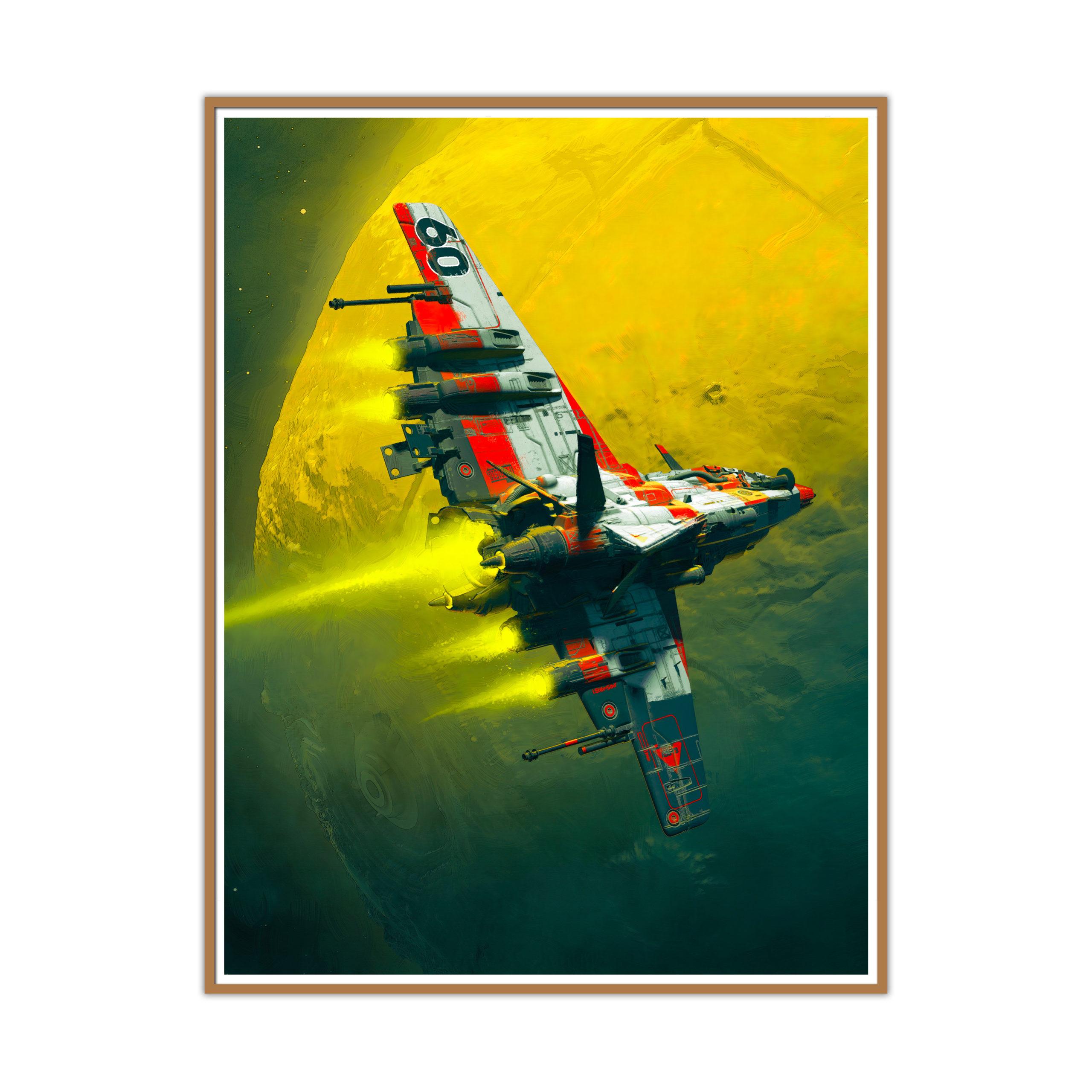 Angel Fish de Pascal Blanché : tirage premium encadré fourni avec le NFT