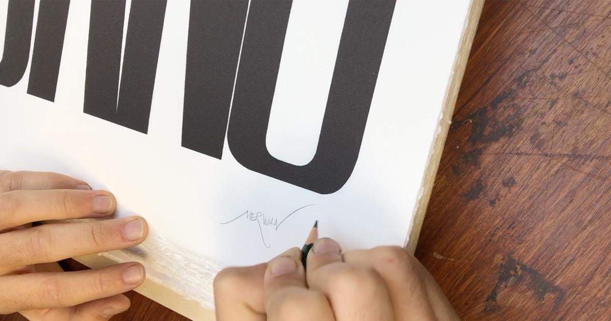 Merwan - signature print BANG