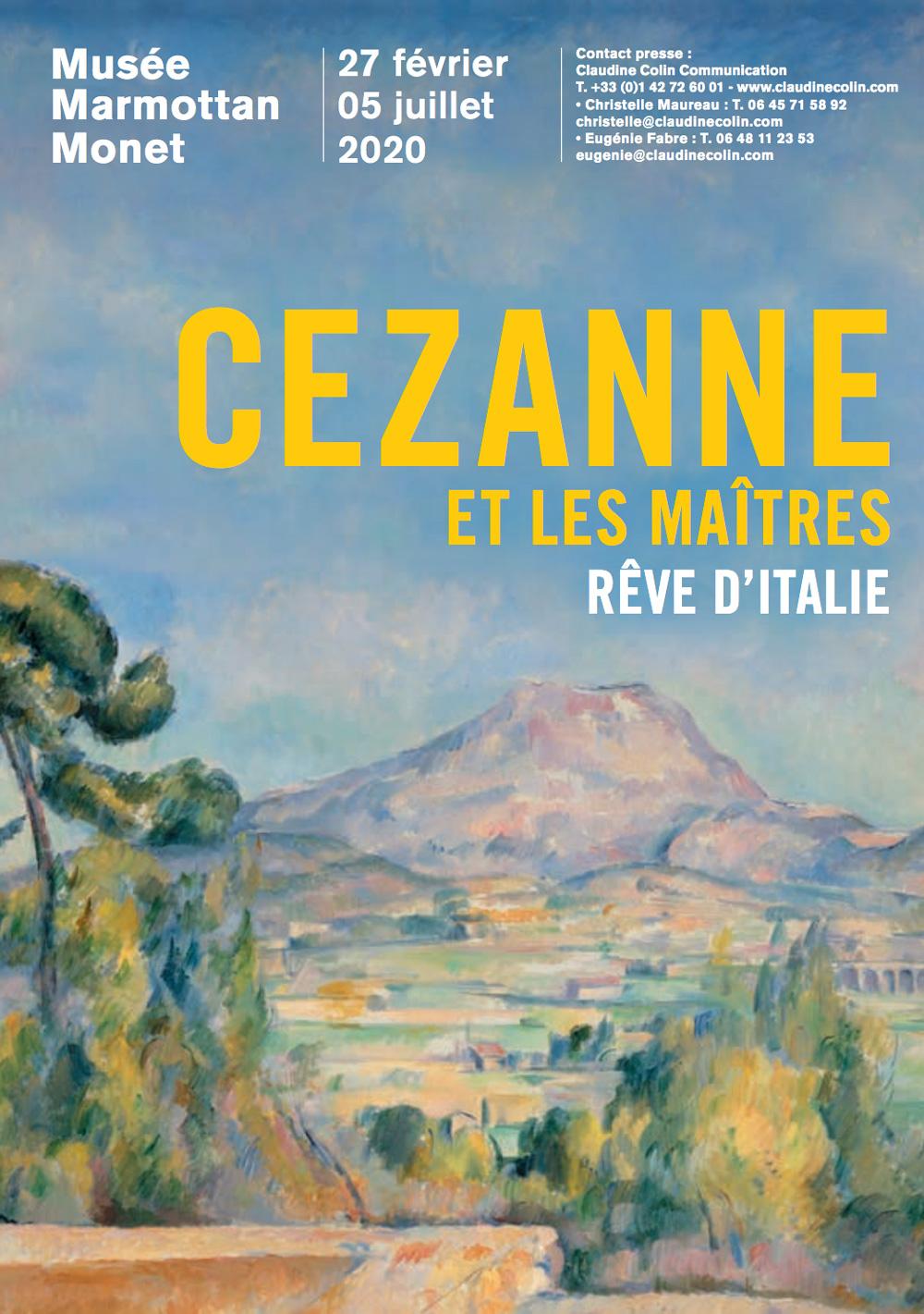 Cezanne et les maîtres. Rêve d'Italie - Affiche de l'exposition du musée Marmottant