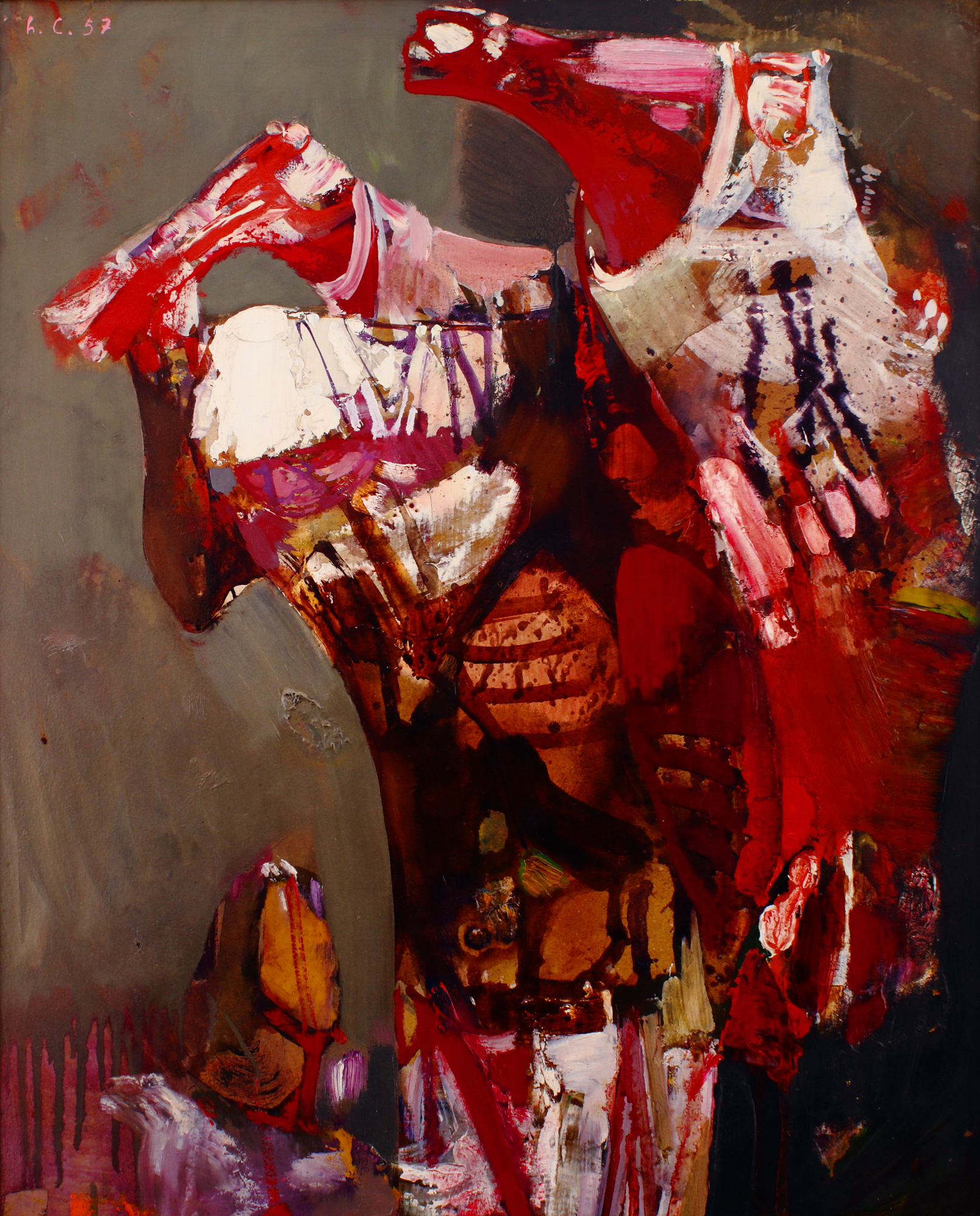 Leonardo Cremonini - L'uomo che porta la carne 1957