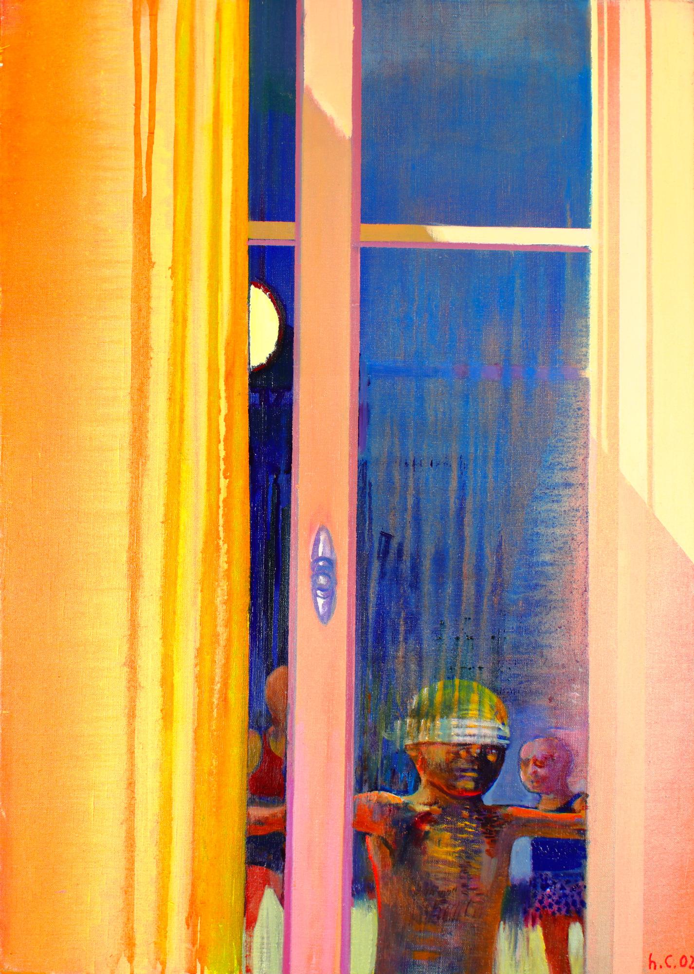 Leonardo Cremonini - Les jeux tardifs, huile sur toile (2002)