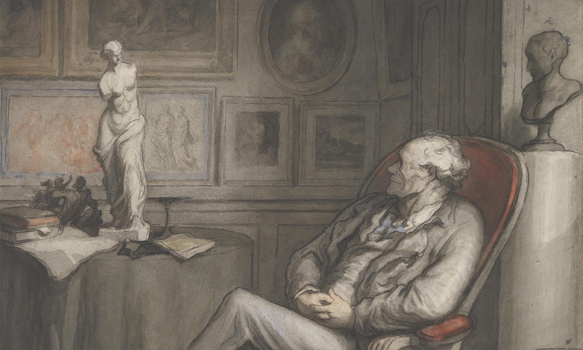 Honoré Daumier - The Connoisseur (ca. 1860–65 - MET collection)