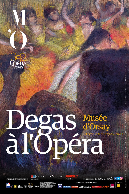 Degas à l'Opéra - affiche de l'exposition au musée d'Orsay