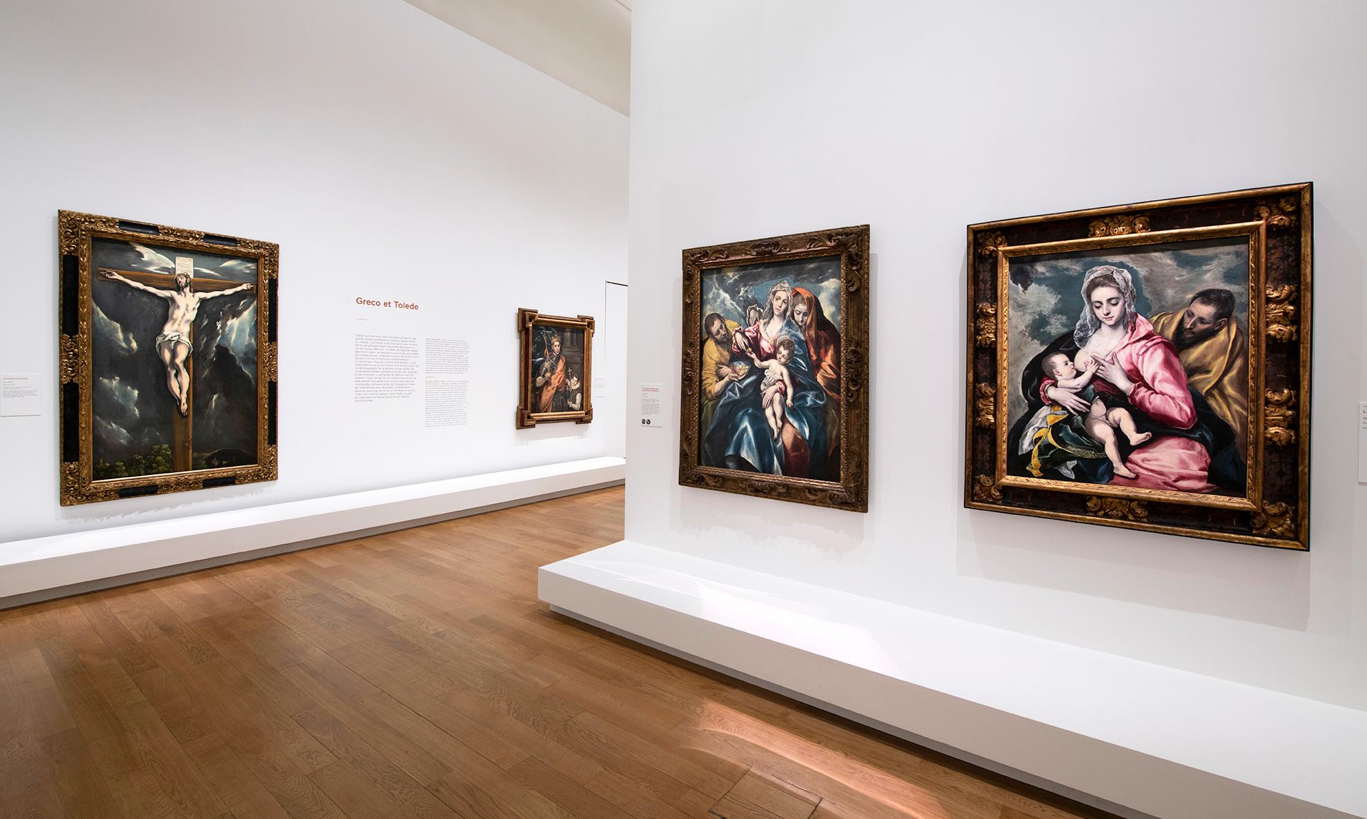 Vue de l'exposition El Greco au Grand Palais
