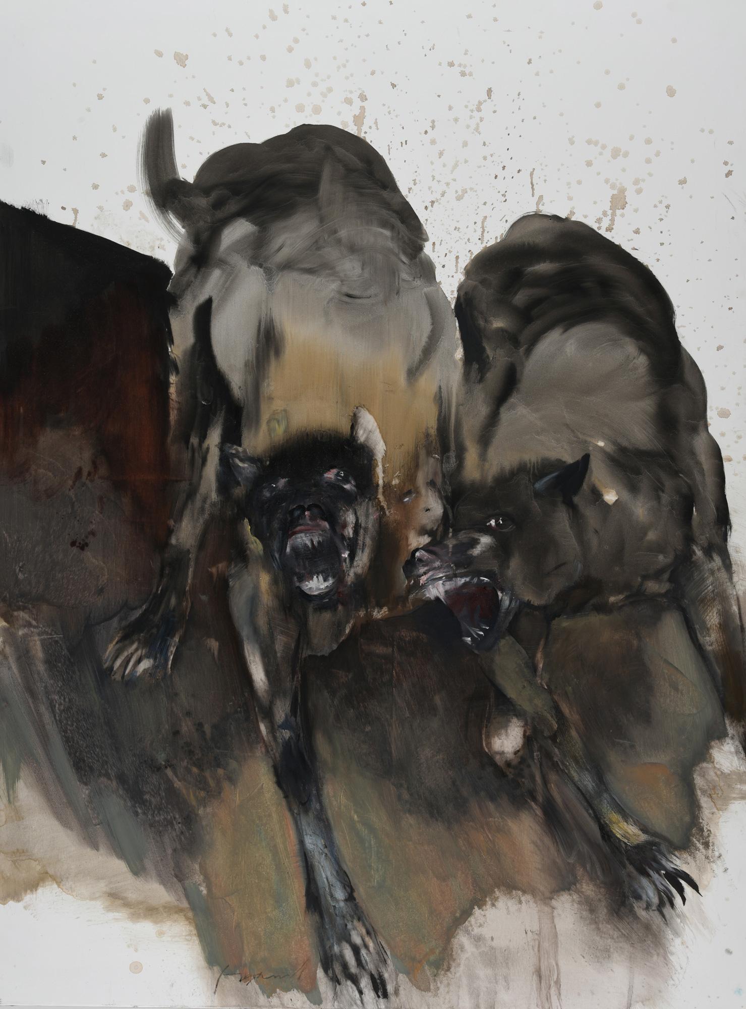 Oeuvre de Franta exposée à la Airial galerie