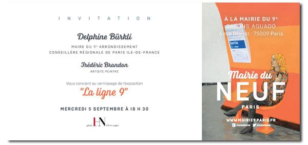 Frédéric Brandon - Exposition Mairie du 9e