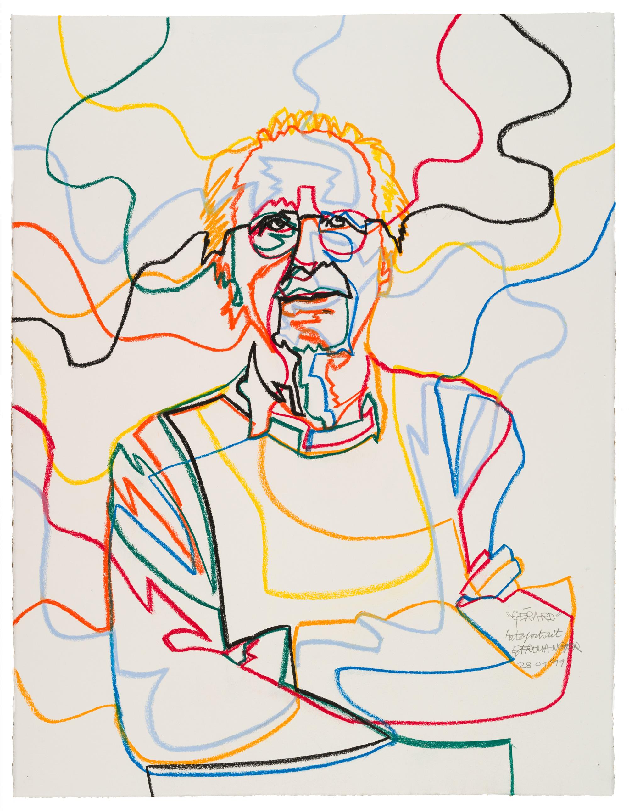 Gérard Fromanger au musée Marmottan - Autoportrait