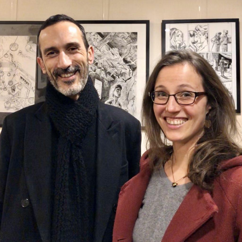 Hubert, scénariste, et Gaëlle Hersent, dessinatrice