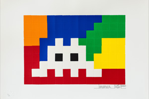 Invader, Home Lego (white)