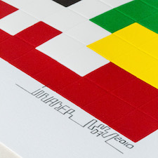 Invader : print Home Lego white
