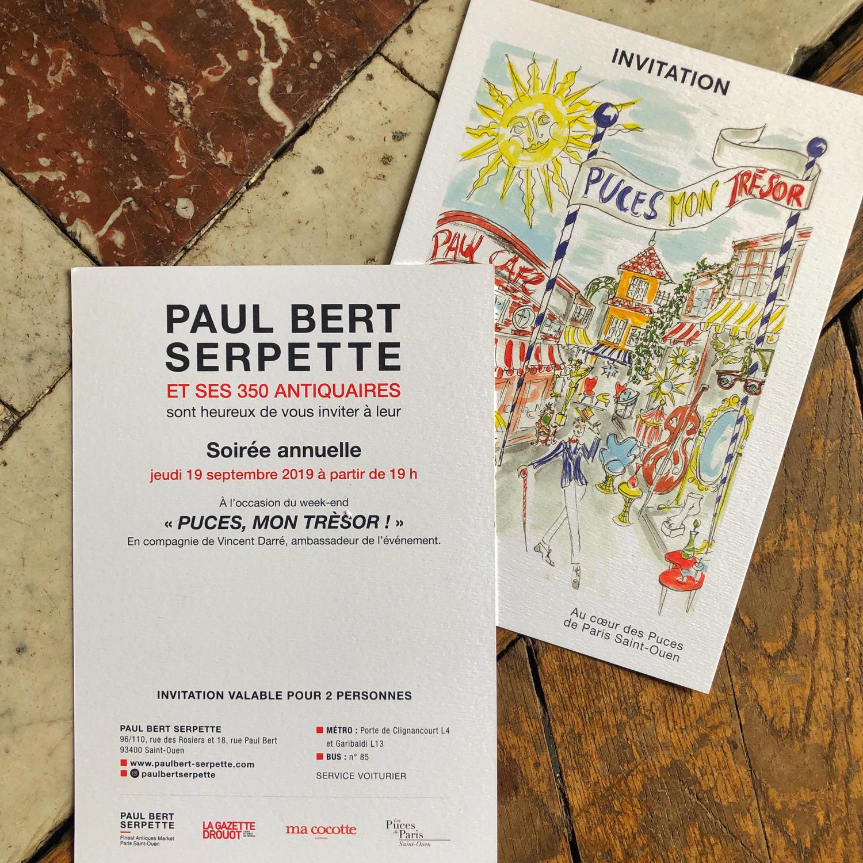 Invitation Paul Bert Serpette