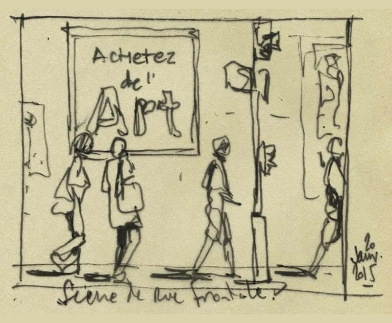 Achetez de l'Art par Jean-Marie Drouet - croquis 1