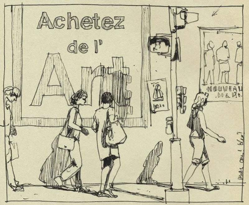 Achetez de l'Art par Jean-Marie Drouet - croquis 2