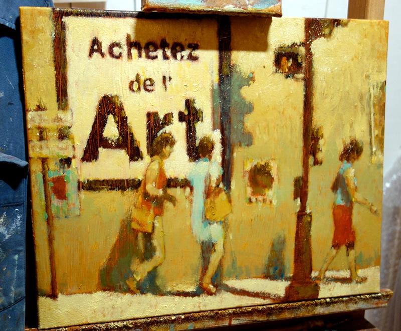 Achetez de l'Art par Jean-Marie Drouet, avancement de l'oeuvre