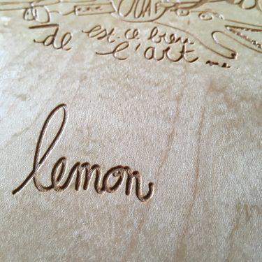Signature de Lemon sur le skate