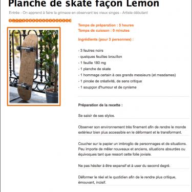 Planche de skate façon Lemon