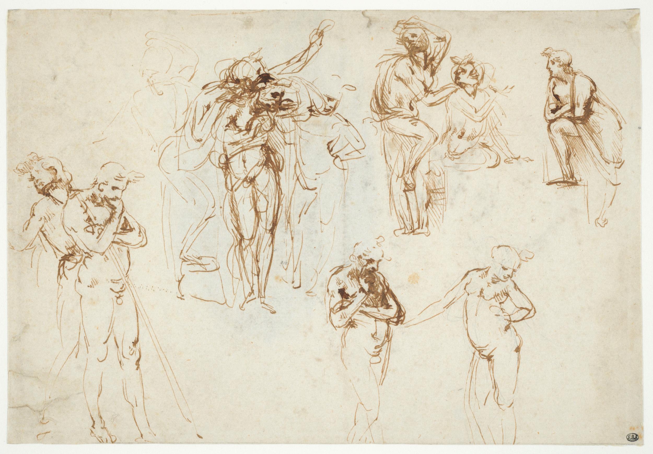Léonard de Vinci - Etudes pour l'Adoration des Mages au Beaux-Arts de Paris