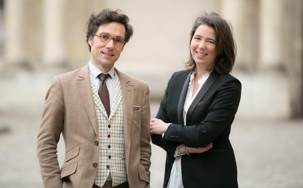 Les commissaires-priseurs Fabien Mirabaud et Claudia Mercier