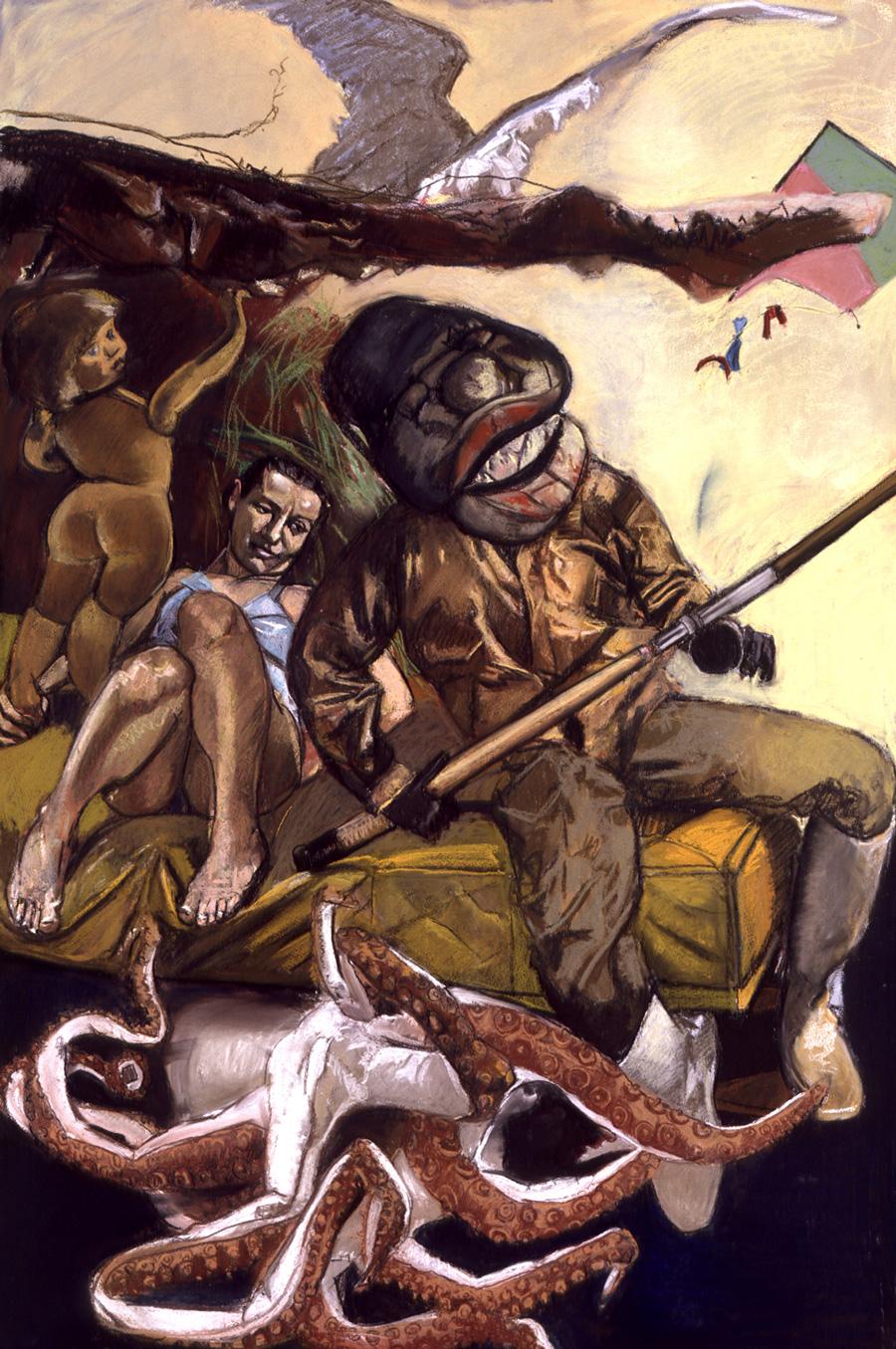 Paula Rego The Fisherman (2005) - panneau droit du triptyque