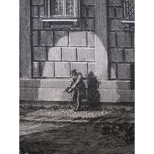 Le Piranèse, détail de la gravure du palais Barberini à Rome