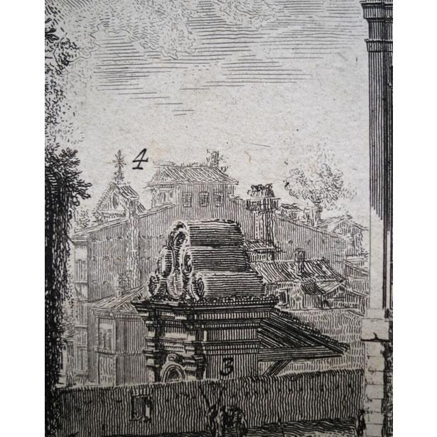 Le palais Barberini à Rome - Détails des numéros renvoyant à la légende