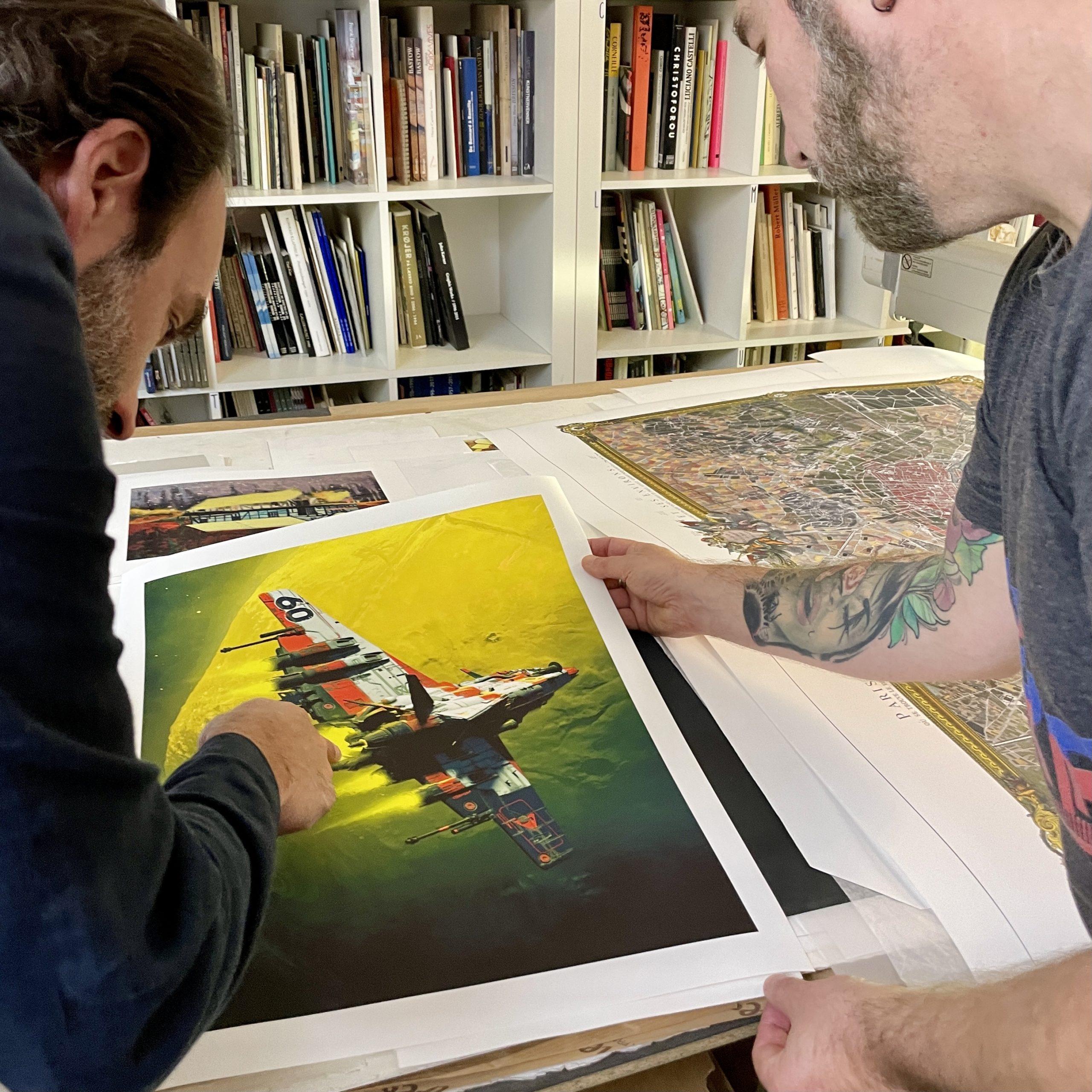 Bon à tirer du chef d'oeuvre Angel Fish de Pascal Blanché à l'atelier Clot