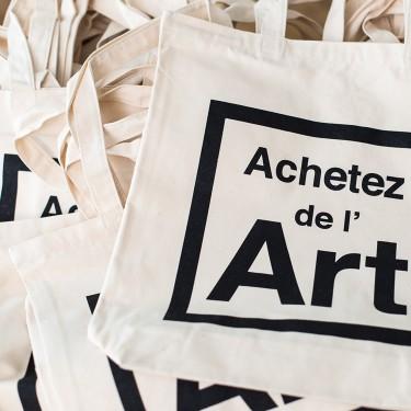 Le tote bag Achetez de l'art : solide et pratique, indispensable !