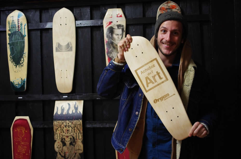 Achetez de l'Art et Maxime de Organ Skateboards : skate art !
