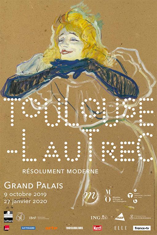 Toulouse-Lautrec - L'affiche de l'exposition du Grand Palais