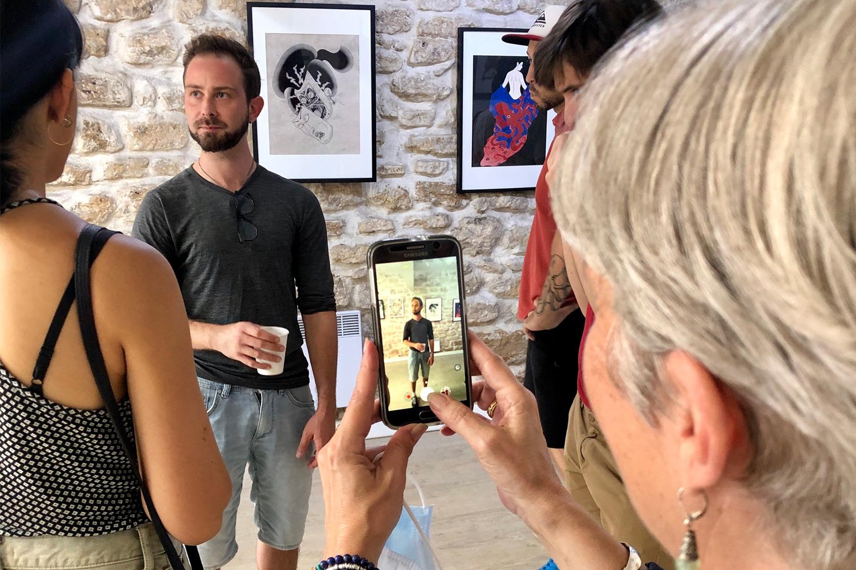 Prince Rours au vernissage de l'exposition Visions du Japon